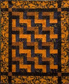 Creaking Stairs Quilt. Definitely change the colors but cool quilt