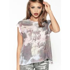 Wildfox Couture 'World Of My Own' T-Shirt Casual Tops - Budget deals UK