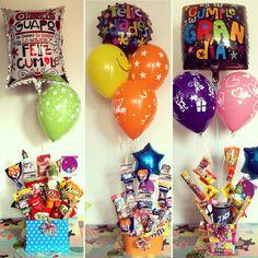 Birthday Basket, Birthday Candy, Diy Birthday, Best Graduation Gifts, Best Birthday Gifts, Candy Gift Baskets, Candy Gifts, Gift Bouquet, Candy Bouquet