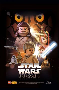 Lego Poster Star Wars Episode I: The Phantom Menace