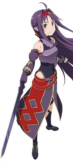 Sword Art Online, Yuuki, by official art - COSPLAY IS BAEEE!!! Tap the pin now to grab yourself some BAE Cosplay leggings and shirts! From super hero fitness leggings, super hero fitness shirts, and so much more that wil make you say YASSS!!!
