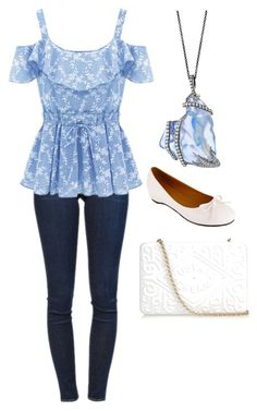"""""""Untitled #29"""" by gregorygirl ❤ liked on Polyvore featuring Frame Denim, Lena Luisa and Anya Hindmarch"""