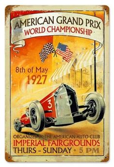 American Grand Prix Tin Sign