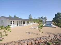Sonoma farmhouse rental - View of the House, Saltwater Pool & House