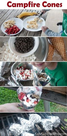 Campfire Cones. could be fun to try, even for just a backyard cookout.