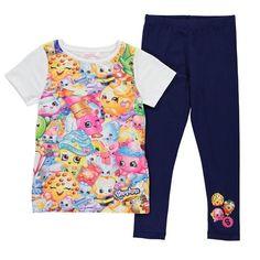 Shopkins t-paita & legginsit setti Tyttöjen suloinen Shopkins asu, johon kuuluu lyhythihainen paita, jossa kauttaaltaa Shopkins hahmot printti sekä yhteensopivat legginsit.