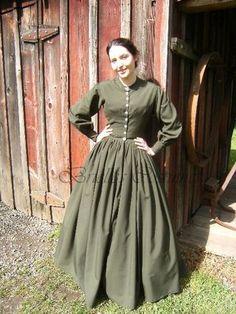 1860s day dress.