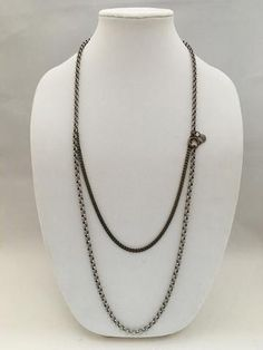 Antique Silver/ Brass Layered Necklace