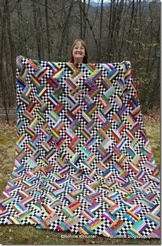 Quilting Ideas Checkerboard Rails FREE Pattern by Bonnie Hunter Bonnie Hunter, Jellyroll Quilts, Scrappy Quilts, Patch Quilt, Quilt Blocks, Rail Fence Quilt, Scrap Quilt Patterns, Quilting Ideas, String Quilts