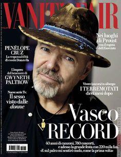 Vasco Rossi para Vanity Fair Italia Vanity Fair Italia, Music Journal, Gwyneth Paltrow, Cinema, Digital, Products, Moda Masculina, Musica, Cover Pages