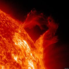 """NASA scientists dubbed the sun storm a """"Graceful Eruption."""" It occured on March 16, 2013 and was captured by the space agency's Solar Dynamics Observatory, which records spectacular views of the sun in high definition."""