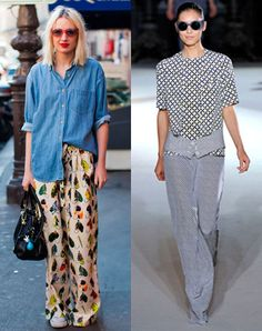 Miss at la Playa: How to wear silk trousers