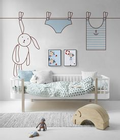 Dream Sailor • Scandinavian - Kids room ✓ 365 Day Money Back Guarantee ✓ Consulting on the Pattern Selection ✓ 100% Safe✓ Set up online!