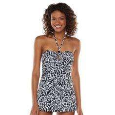 6fb98dd77f A Shore Fit Hip Minimizer Printed Swimdress - Women s. Skinny DippinSwim  DressKohlsBathing ...