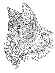 Wolf Coloring Pages For Adults To Print Free 21637