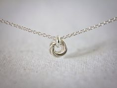 Tiny Silver Bird Nest Necklace  Argentium Sterling by Femailler, $76.00
