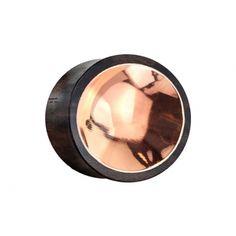 10 mm, 12 mm, 14 mm, 16 mm, 19 mm, 22 mm oder 25 mm Flared Plug aus Sonoholz mit Kupferzinn