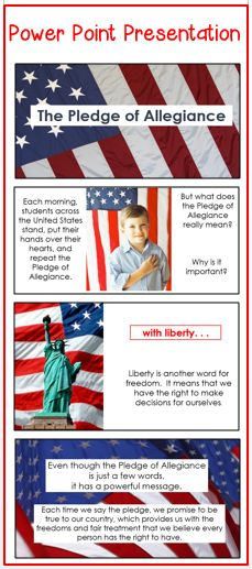 This power point helps children understand they meaning behind the words when they repeat the Pledge of Allegiance. Second Grade Teacher, Third Grade, Grade 2, Beginning Of The School Year, Back To School, Fun Fall Activities, Teacher Resources, Teaching Ideas, Pledge Of Allegiance