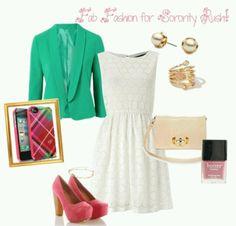 Love the dress and blazer!