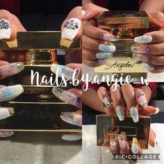 Hard gel nails for my daughter. #swarovskicrystals #notpolish #glitternails #dolceandgabbana   #theone #gelnails