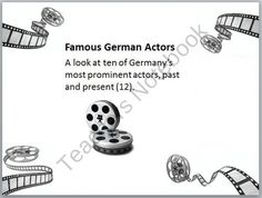 Famous German Actors PowerPoint product from Tom-Neuschafer on TeachersNotebook.com