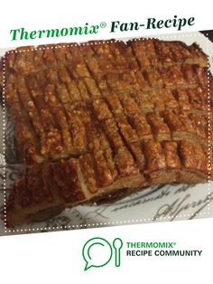 Twice cooked pork belly by ainsrussell. A Thermomix ® recipe in the category Ma… Twice cooked pork belly by ainsrussell. A Thermomix ® recipe in the category Main dishes – meat on www.recipecommuni…, the Thermomix ® Community. Pork Belly Recipes, Meat Recipes, Cooking Recipes, Savoury Recipes, Twice Cooked Pork, Clean Dinner Recipes, Bellini Recipe, Pork Dishes, Thermomix