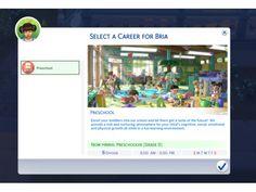 The Sims 4 Preschool MOD by kawaiistacie Sims 4 Mods, Sims 4 Game Mods, Sims Traits, Tumblr Sims 4, Sims Packs, Pelo Sims, Sims 4 Gameplay, Sims 4 Dresses, Sims Four