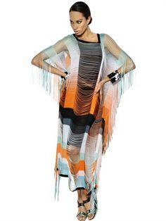 Missoni Viscose Fringed On Silk Long Dress