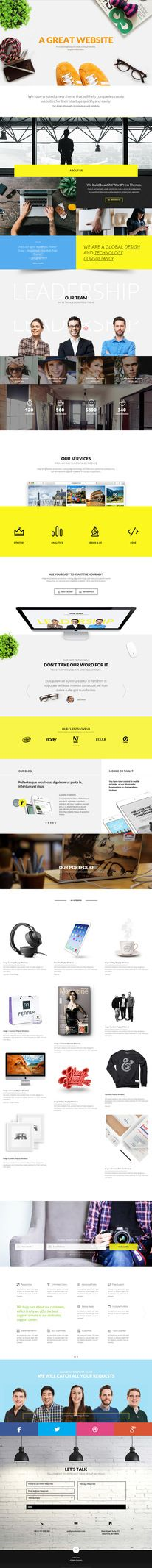 website, yellow, concept, one page, animation, grid — Designspiration