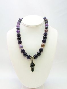 Amethyst Pendant Necklace  A4. by daksdesigns on Etsy