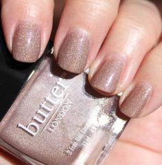 Butter London. Nail polish of choice.
