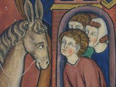 Here Are The 27 Most Bizarre Things Found In Historical Artworks From The Middle Ages.  13. Nothing to see here. Just a donkey paying a gentlemanly visit to these ladies.