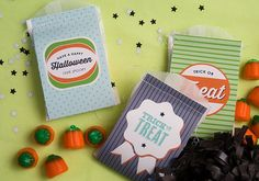 Halloween Treat Bag Printables! on http://pizzazzerie.com
