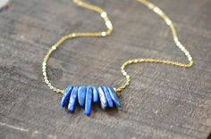 Naiona Jewelry lapislazuli spikes goldfilled necklace www.naiona.de