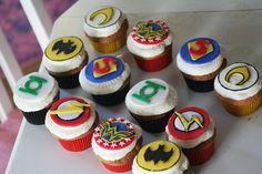 DC comic cupcakes