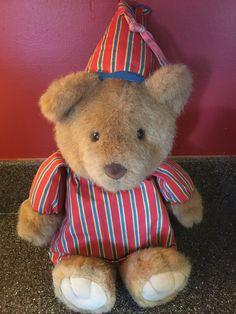 Avon Sherman Sleepy Bear Singing Dream With Me Plush Stripe PJs Vintage #Avon