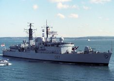 Newcastle pictured entering Portsmouth Harbour on 26th May 1988