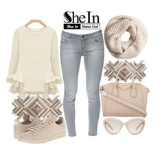 """Senza titolo #130"" by itsels on Polyvore featuring moda, Pottery Barn, Zara, Prada, adidas, Givenchy e H&M"
