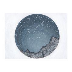 Fine Art PrintScorpio and the Blue Ridge di elisemahanfineart, $9.00