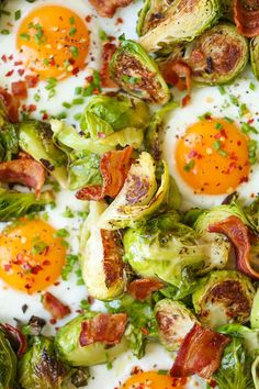 Brussels Sprouts, Eggs and Bacon by Damn Delicious