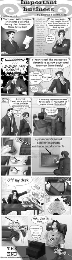Important Business.. only to Maya and Edgeworth :D