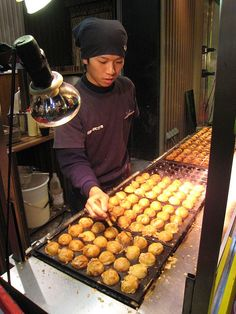 street food - japan    Everybody likes takoyaki (octopus)... except me.