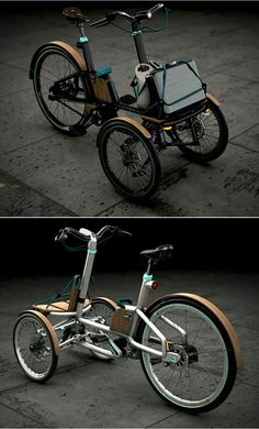 an electric trike concept by Dimitris Niavis Tricycle Bike, Trike Bicycle, Adult Tricycle, Velo Design, Bicycle Design, Design Logo, Three Wheel Bicycle, Velo Cargo, Electric Trike