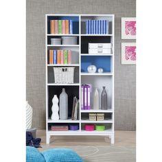 Carter Blue Multi-color 72 inch Bookcase