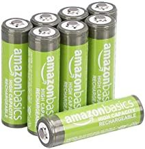 Amazonbasics Aa High Capacity Rechargeable Batteries 2400 Mah Pre Charged Pack Of 8 Appearance May Vary Rechargeable Batteries Batteries Recharge