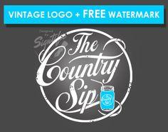 Vintage logo  FREE watermark distressed badge logo by Signtific