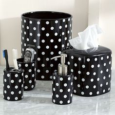 I love the Dottie Bath Accessories on pbteen.com