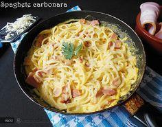 Reteta culinara Spaghete carbonara din Carte de bucate, Paste. Specific Romania. Cum sa faci Spaghete carbonara