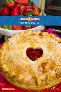 Valentine's Day Berry Pie -  Valerie Gordon constructs the pie with rose petals, rhubarb raspberries & strawberries, and we promise, it's the absolute best! Catch Home and Family weekdays at 10/9c on Hallmark Channel!