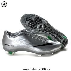 Silver Green Black Nike Mercurial Vapor IX FG Football Boots
